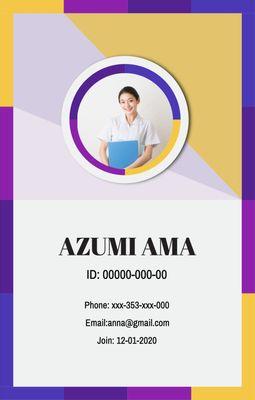 ビジネスIDカードテンプレート3924