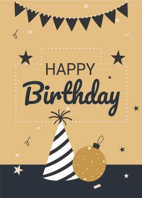 誕生日カードテンプレート1353
