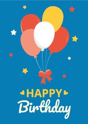 誕生日カードテンプレート1370