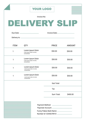 Delivery SlipTemplates4185