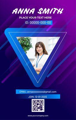 ビジネスIDカードテンプレート3901