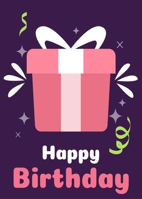 誕生日カードテンプレート3429