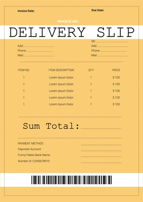 Delivery SlipTemplates4160