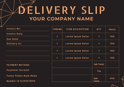 Delivery SlipTemplates4165