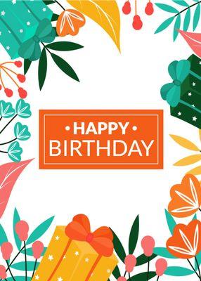 誕生日カードテンプレート1698