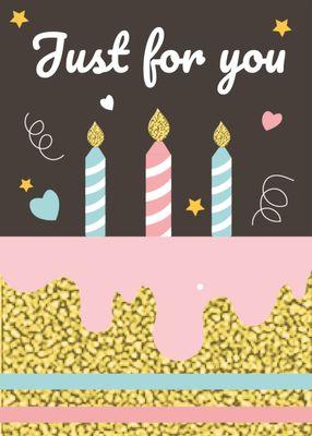 誕生日カードテンプレート1359