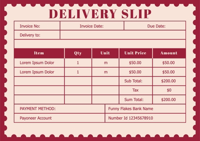Delivery SlipTemplates4173