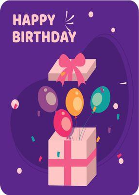 誕生日カードテンプレート3134