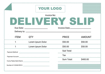 Delivery SlipTemplates4186
