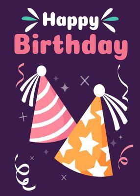 誕生日カードテンプレート3427