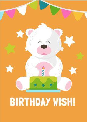 誕生日カードテンプレート1693