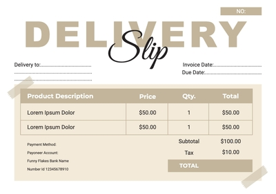 Delivery SlipTemplates4195