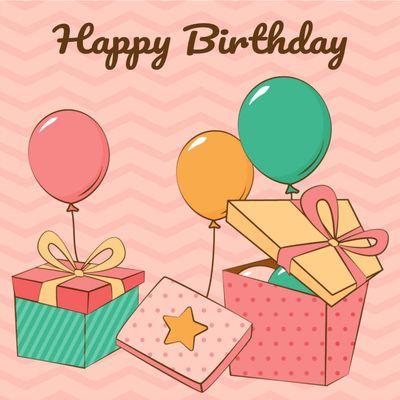 誕生日カードテンプレート1656