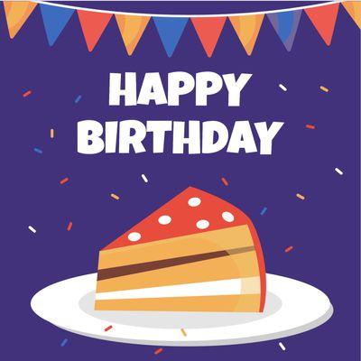 誕生日カードテンプレート1684