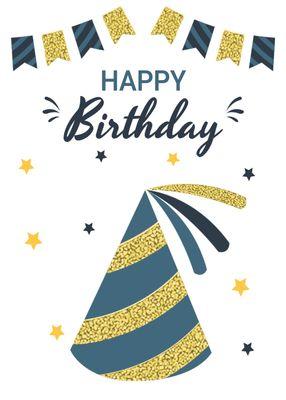 誕生日カードテンプレート1363