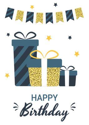 誕生日カードテンプレート1362