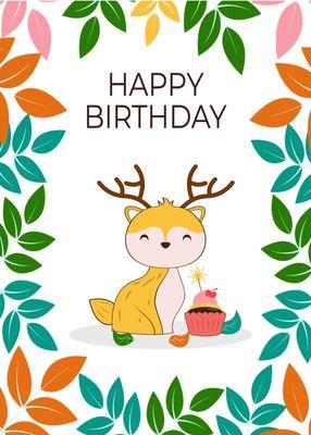 誕生日カードテンプレート1701